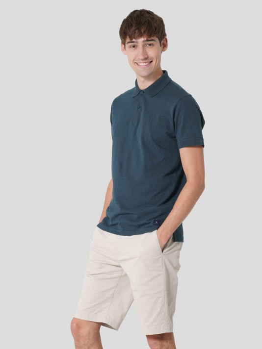 Regular fit shorts in stretch cotton