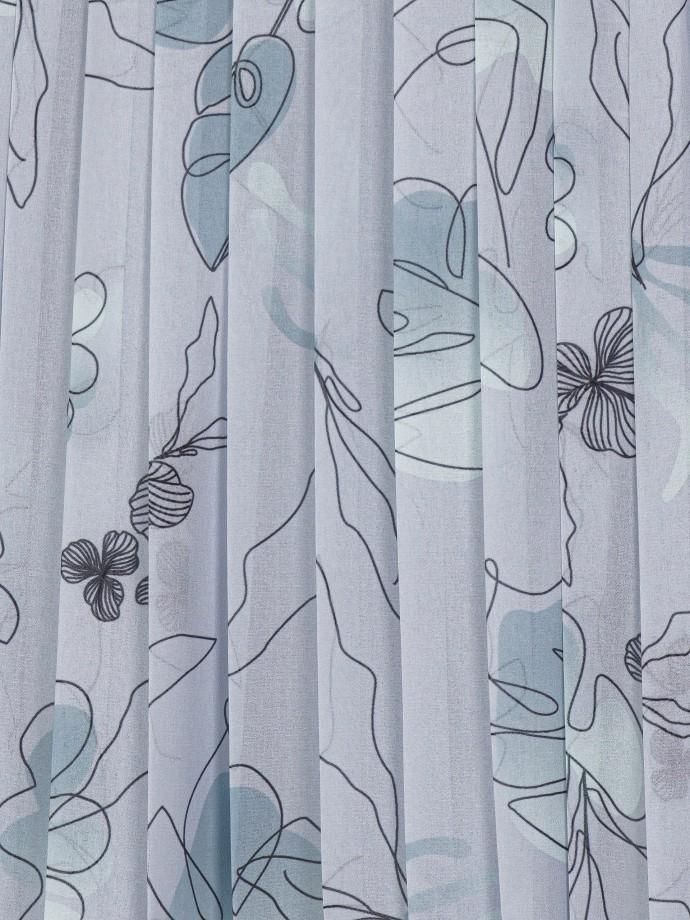 Top plissado com motivos florais