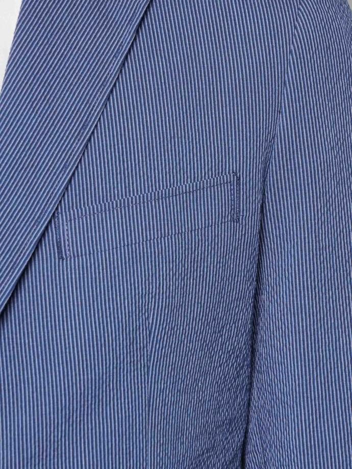 Blazer regular fit em algodão stretch