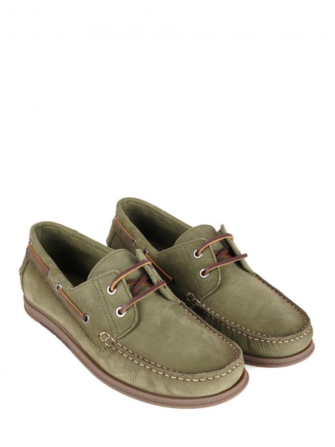 Sapatos de vela em pele