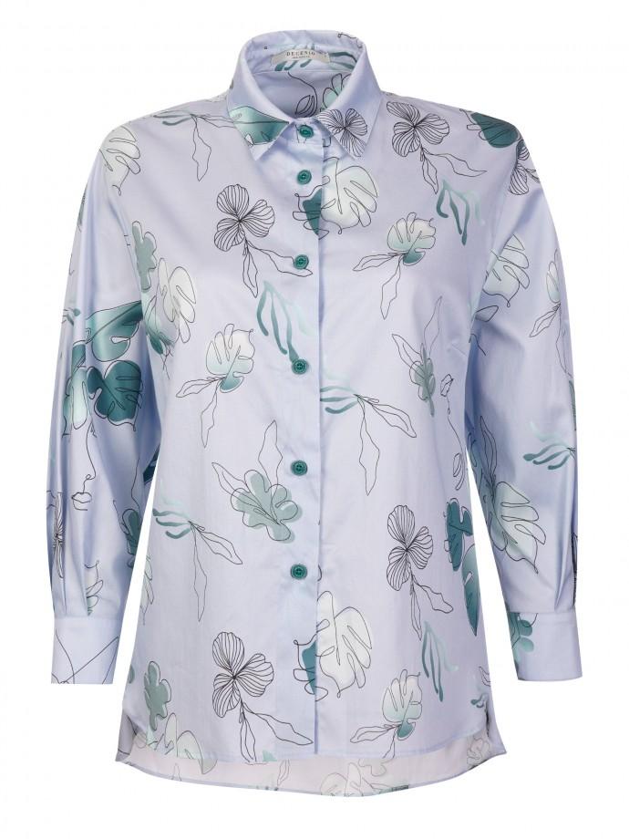 Camisa estampada com motivos florais