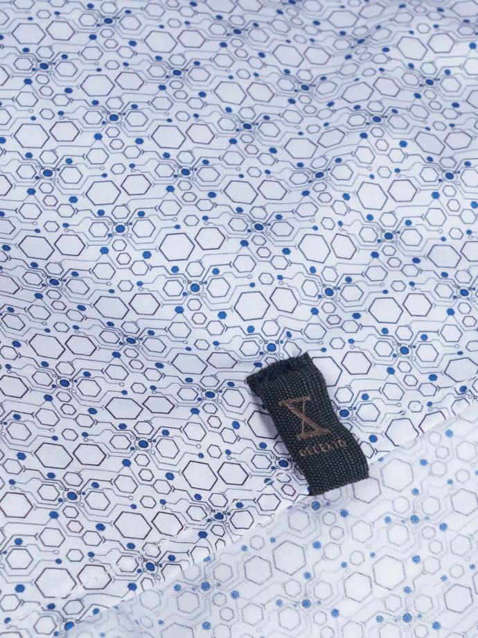 Camisa slim fit estampada com micromotivos