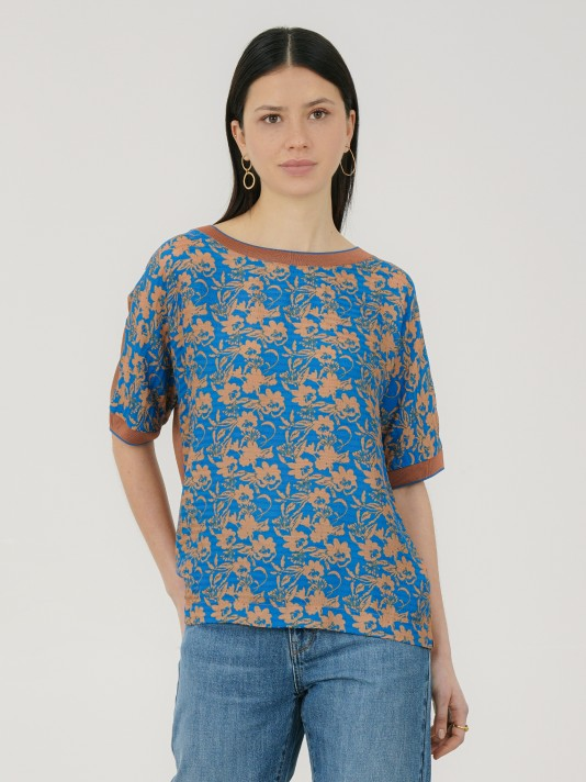 Combined t-shirt with floral print