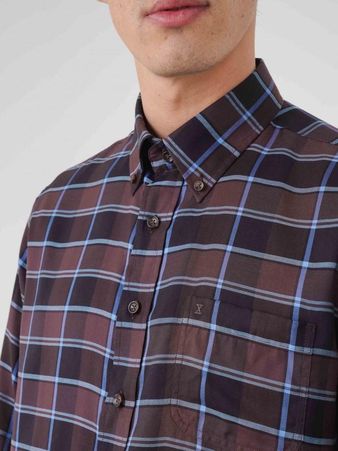 Camisa regular fit xadrez