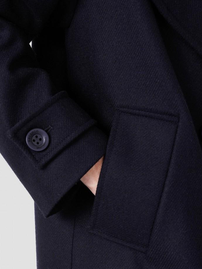 Casaco oversize em lã