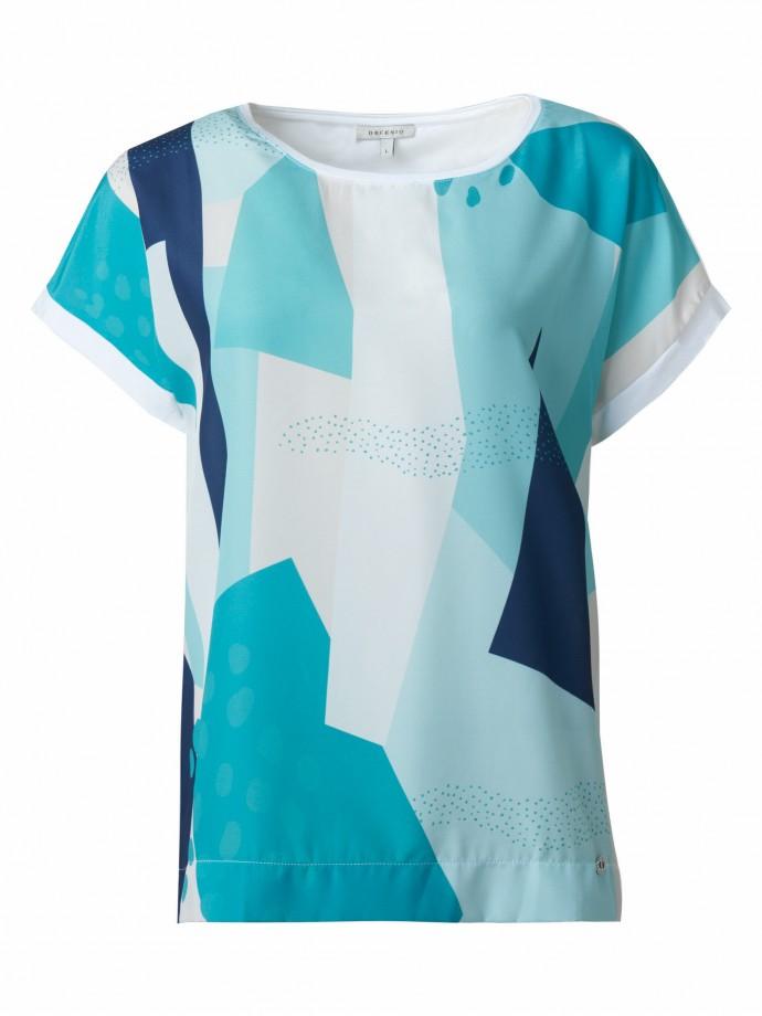 T-Shirt combinada com motivos geométricos