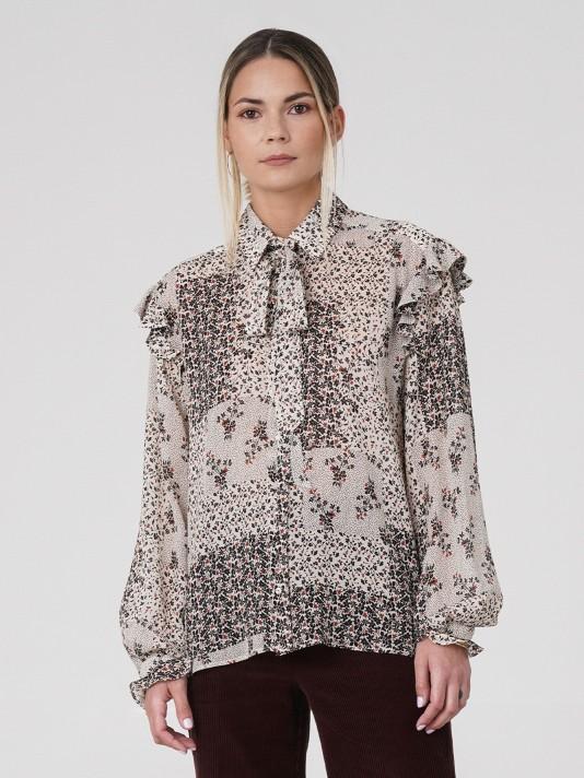 Camisa estampada com folho