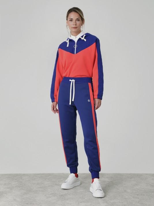 Combined jogging pants