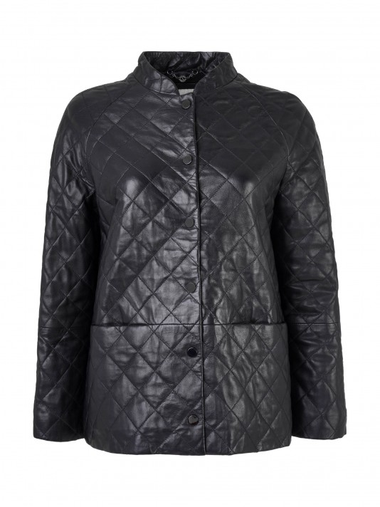 Quilted rhombus jacket