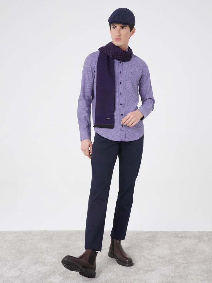Regular fit shirt with micro motifs