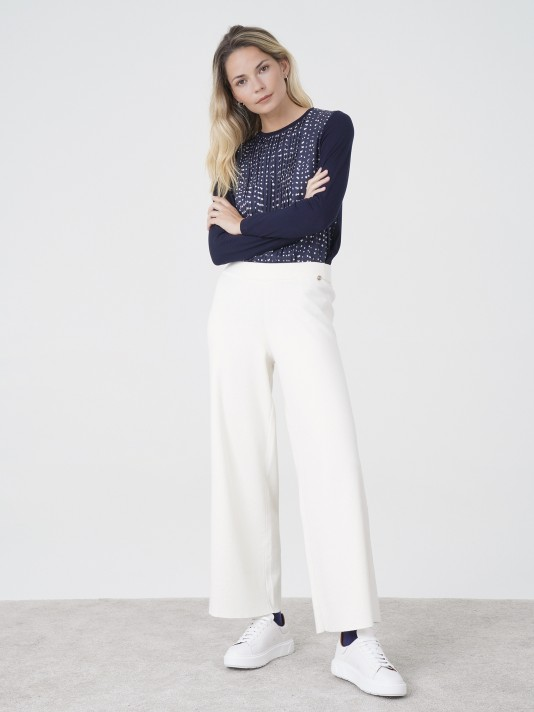 Knitted fluid pants