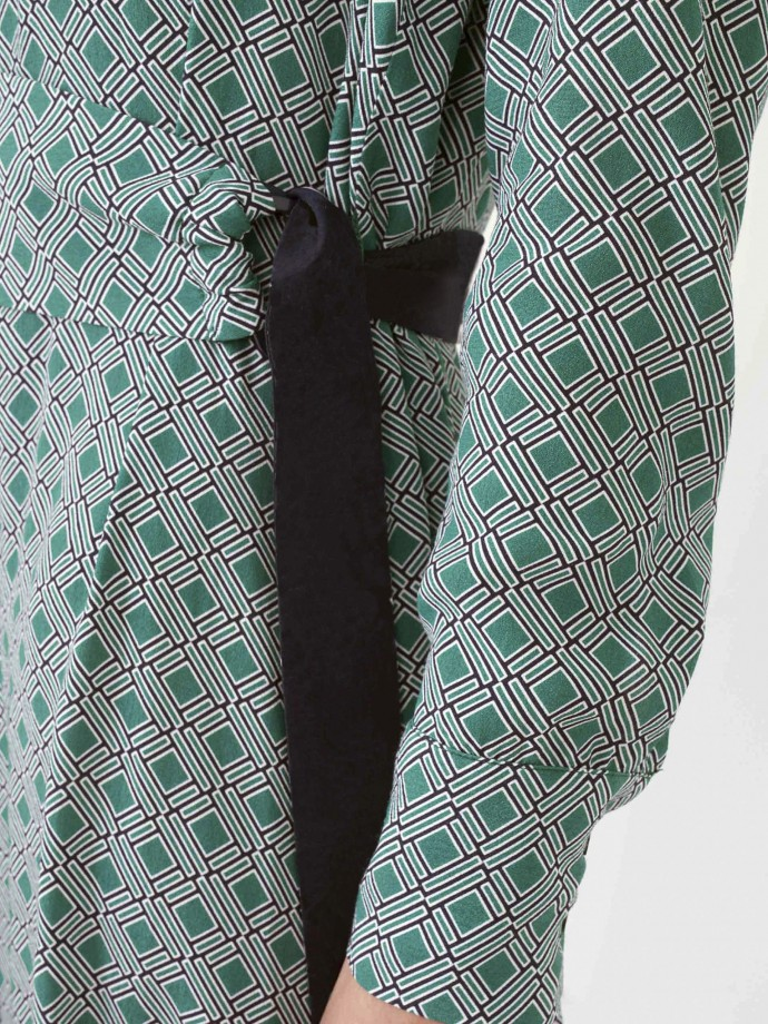 Vestido camiseiro estampado