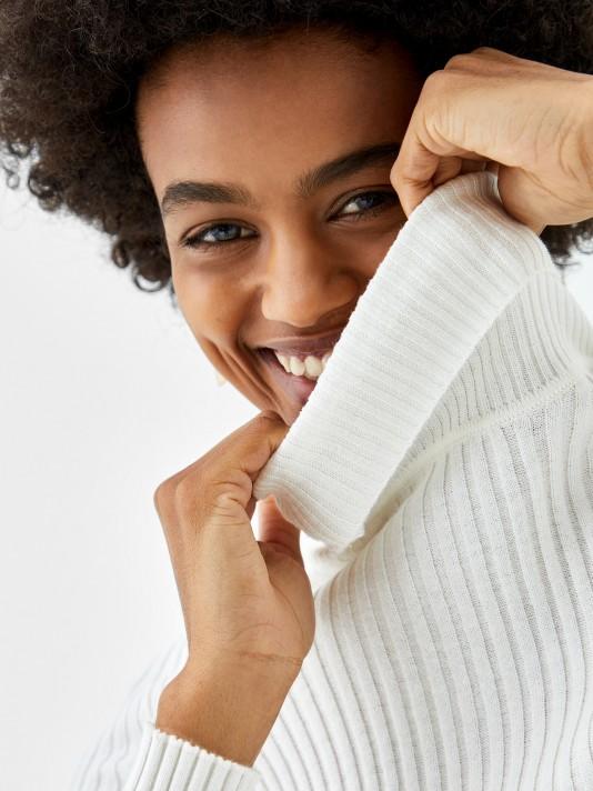 Pull en coton, soie et cachemire