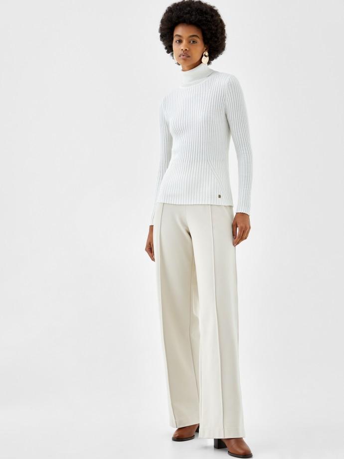 Camisola de algodão, seda e caxemira