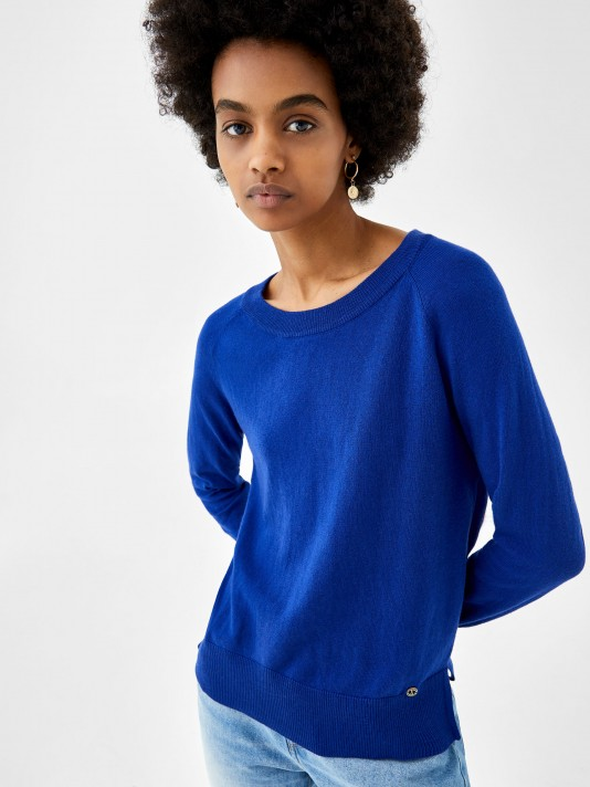 Cotton, silk and cashmere sweater