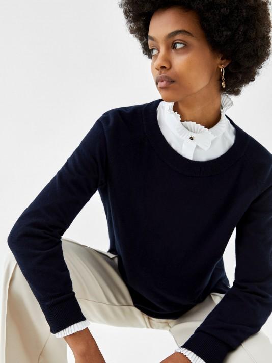 Jersey de algodón, seda y cachemira